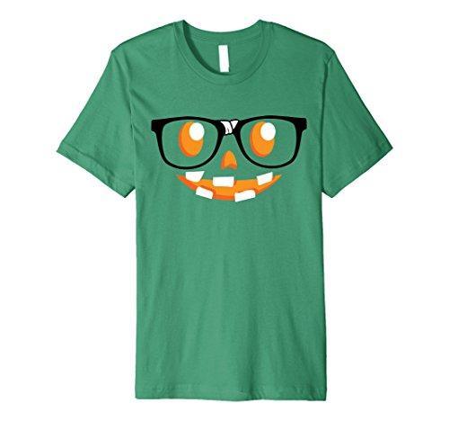 Mens Spooky Funny Halloween Gift Tees | Nerdy Pumpkin Face Medium Kelly (Nerdy Halloween Ideas)