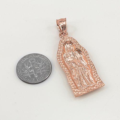 Collier Femme Pendentif Bicolore 14 Ct Or Rose Guadalupe (Petit) (Livré avec une 45cm Chaîne)