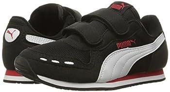 Puma Cabana Racer Mesh V Kids Sneaker (Toddlerlittle Kidbig Kid), Black White, 1.5 M Us Little Kid 5