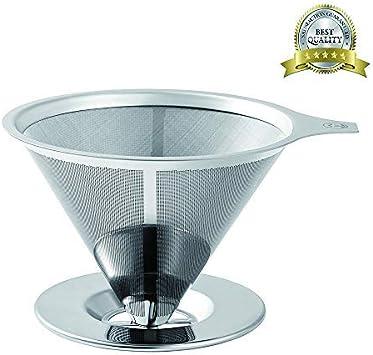 Filtro de café de acero inoxidable – sin papel, para cafetera o ...