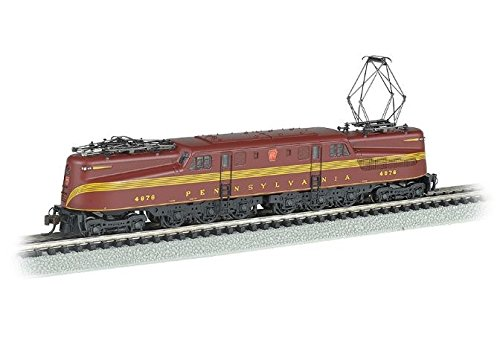 - Bachmann Industries Gg 1 Dcc Ready Electric Prr #4876 N-Scale Locomotive, Tuscan 5 Stripe