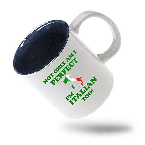 nly I'M Perfect I'M Italian Too Coffee Tea Ceramic Inner Color Mug White/Blue ()