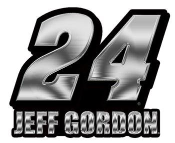 Jeff Gordon NASCAR Chrome Emblem
