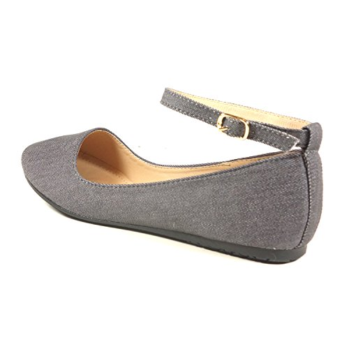 Nova Utopia Womens Mary Jane Style Ballet Flats As - Greycvs