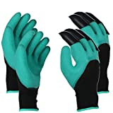 Runfish Gardening Gloves, Women Garden Digging Gloves with Claws Protective Gear Gardening Tool for Gardeners (2 Pairs)