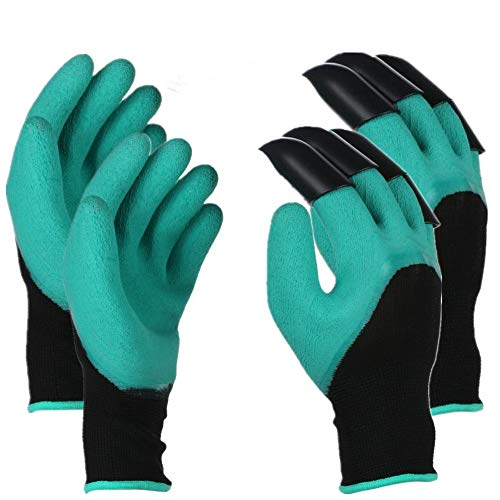 (Runfish Gardening Gloves, Women Garden Digging Gloves with Claws Protective Gear Gardening Tool for Gardeners (2 Pairs))