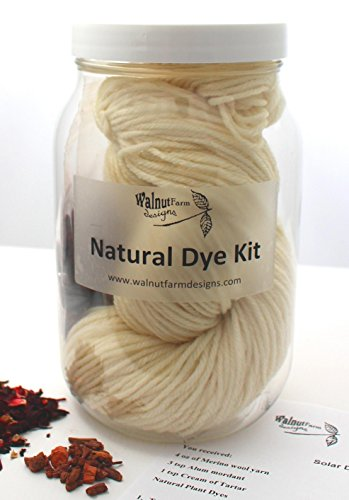 Natural Dye Kit for Naturally Plant Dyed Yarn Natural Dyeing Yarn for Dyes Knitting Crochet Weaving