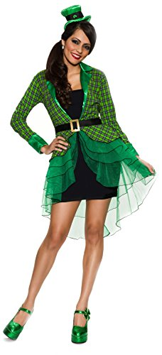 Delicious Lucky Lass Costume, Green/Black, Small