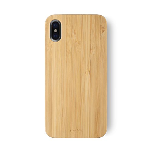 Bamboo Stylish (iPhone X Case. iATO GOODWOOD Real WOODEN Premium Protective Cover. Unique, Stylish & Classy Bamboo Wood Snap-On Back Case for iPhone X / 10)