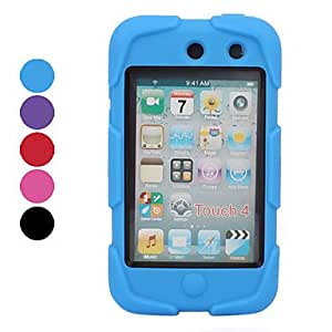 Mini - Anti Shock Defender Case with Screen Guard for iTouch 4 , Color: Purple