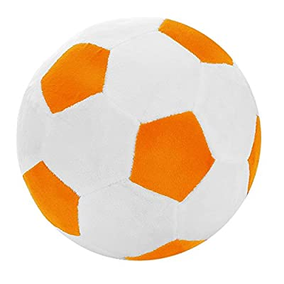 Tplay Soccer Ball Pillow Stuffed Fluffy Plush Baby Soccer Ball Soft Durable Soccer Sports Toy Gift For Kids