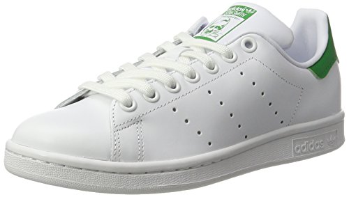 adidas Stan Smith W, Chaussures de Gymnastique Femme, Métal Blanc Cassé (Ftwbla/ftwbla/verde)