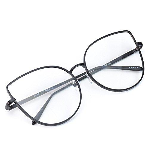 2cc0534b0f580 WearMe Pro - Clear Thin Frame Oversized Delicate Non- Prescription Glasses