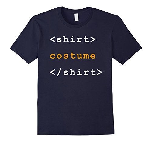 Men's HTML Tags Clever Halloween Costume Funny Tshirt XL (Guys Halloween Costumes Diy)