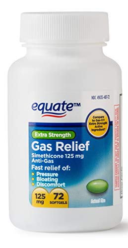 Equate Extra Strength Gas Relief 125 mg 72 Softgels