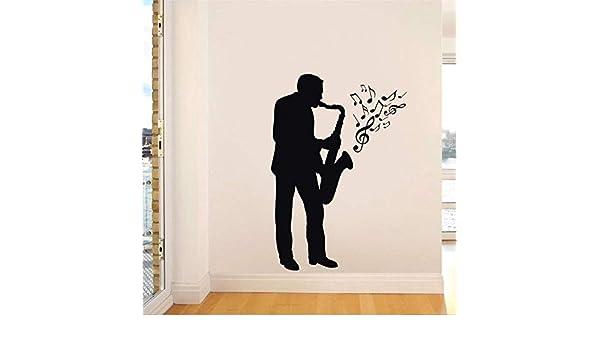 Saxofón Reproductor Extraíble Pegatinas de Pared para la Sala de ...