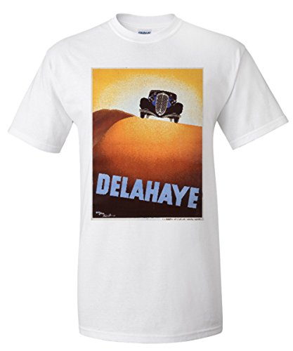 delahaye-vintage-poster-artist-perot-france-c-1935-white-t-shirt-xx-large