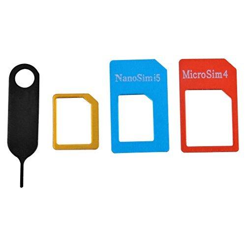 eDealMax Bandeja de tarjeta SIM La eliminación del eyector de expulsión de la aguja Prendedor adaptador Herramienta Micro Nano Set 4 en 1