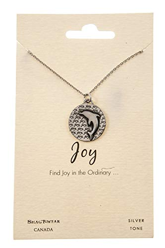 Shag Wear Favourite Animals Inspirations Quote Pendant Necklace (Dolphin Pendant)