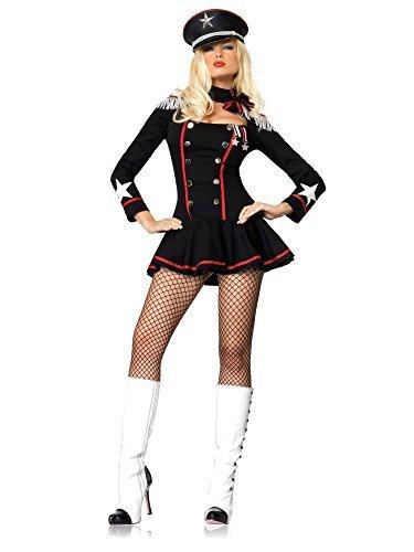 Leg Avenue Women's Major Mayhem Military Costume, Black, Large ()
