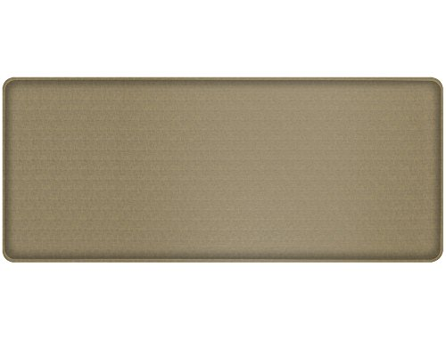 "GelPro Classic Anti-Fatigue Kitchen Comfort Chef Floor Mat, 20x48"", Linen Sandalwood Stain Resistant Surface with 1/2"" Gel Core for Health and Wellness by GelPro"