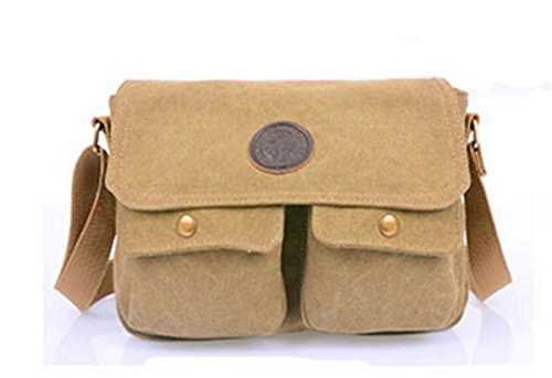 Black Yojap Men's Shoulder Bag Khaki UrtrR