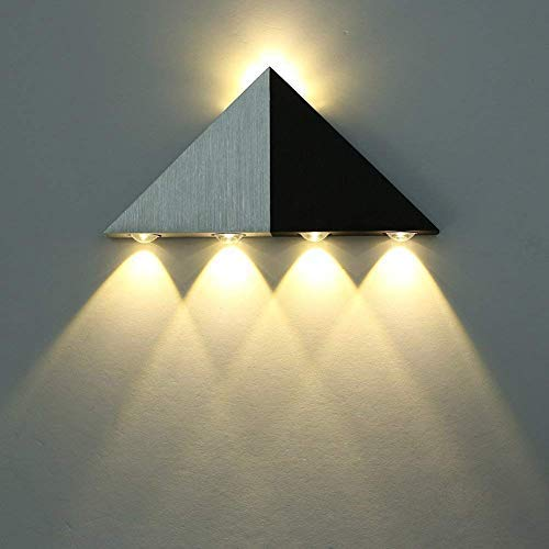 Lightess Up Down Wall Sconce Lights 5W Led Wall Lamp Modern Decorative Triangle Shape for Bathroom Home Theater, Warm White (Corner Ceiling Lamp)