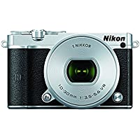 Nikon 1 J5 Mirrorless Digital Camera w/ 10-30mm PD-ZOOM Lens (Silver) (International Model) No Warranty