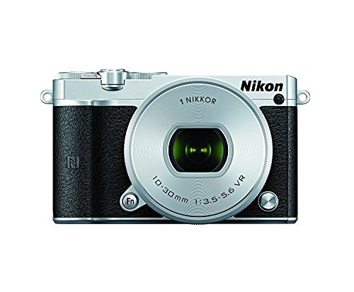 Nikon 1 J5 Mirrorless Digital Camera w/ 10-30mm PD-ZOOM Lens (Silver) (International...