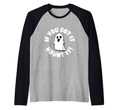 If You Got It Haunt It Funny Halloween Raglan Baseball Tee ()