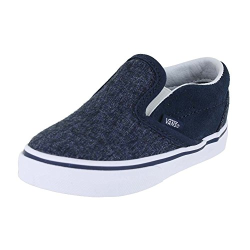 Skateboarding Boys Shoe (Vans Boy's Classic Slip-On Skateboarding Shoes (7 Toddler M, Dress Blues))