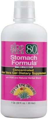 Pack of 3 Lily of The Desert Aloe Vera 80 Stomach Formula