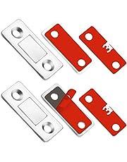 Teloky Cabinet Door Magnets, 12 Pack Ultra Thin Magnetic Door Catch with Stainless Steel Screws, Drawer Magnet Catch for Kitchen Closet Door Closing Magnetic Door Catch Closer