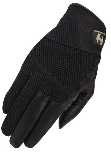 Heritage Tackified Polo Glove, Black, Size 7