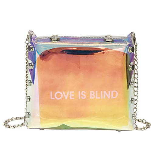 HongMong Clear Trendy Polarized Woman Light Bags Shoulder Ladies Party Crossbody Bags ()