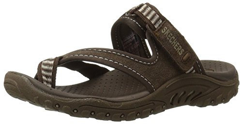 Skechers Women's Reggae-Rasta Thong Sandal,Chocolate,8 M US