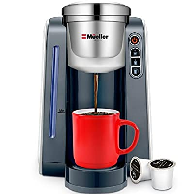 Mueller Ultima Single Serve K-Cup Coffee Maker, Coffee Machine with 3 Brew Sizes for Most Single Cup Pods including 1.0 & 2.0 K-Cup Pods, Rapid Brew Technology with Large Removable 45 OZ Water Tank