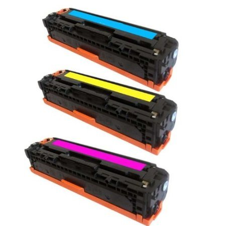 Speedy Inks - 3PK Remanufactured Replacement for HP 125A CB541A Cyan CB542A Yellow CB543A Magenta Laser Toner Cartridge Set for use in Color LaserJet CM1312 MFP, CM1312nfi, CP1215, CP1515n, CP1518ni Cb543a Set