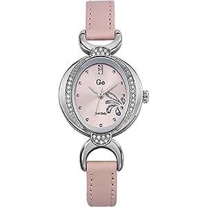 GO Girl Only 697754 - Reloj para mujeres, correa de cuero color rosa