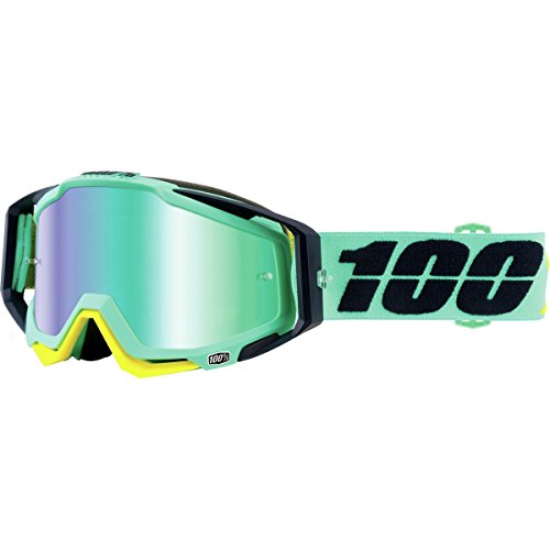 100% Racecraft MX Goggle Kloog - Mirror Green by 100%