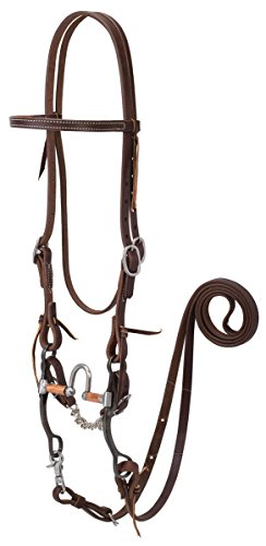 - Weaver Leather Working Tack Bridle with Correction Mouth Bit