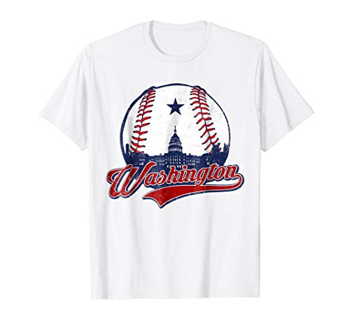 Washington DC Baseball T-shirt National Mall Silhouette