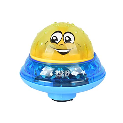 Gbell  Baby Spray Water Bath Toy,Automatic Induction Sprinkler Bath Toy Water Pump Sprayer Can Drifting Rotate with Shower Swimming Pool Toy for Toddler Party ()