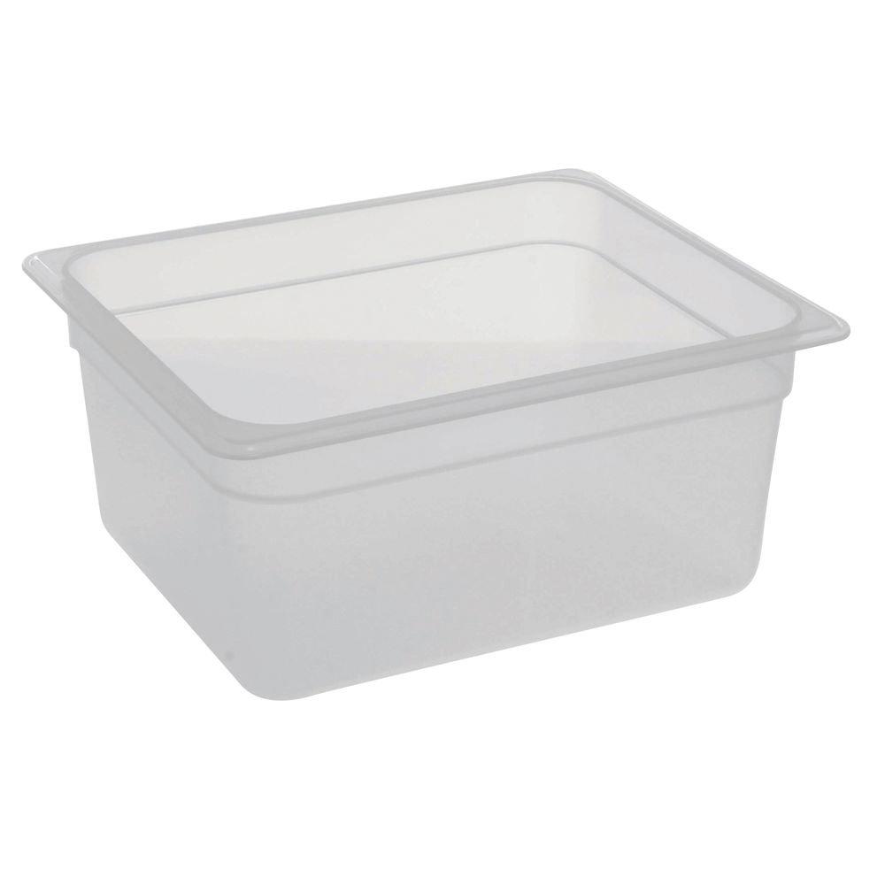 Cambro Food Pan, 1/2 Size, 6'' Deep, Translucent Polypropylene, Nsf
