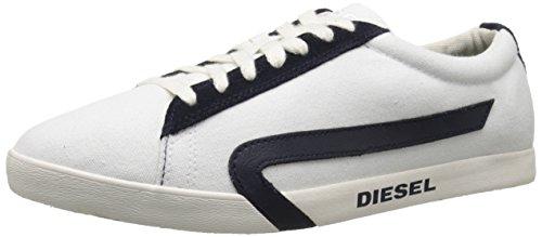 Diesel Mens Rikklub Bikkren Fashion Sneaker Bianco / Blu Notte