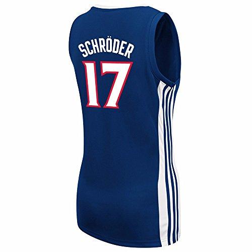 9085175e2 Dennis Schroder Atlanta Hawks NBA Adidas Women's Navy Blue Replica Jersey  85%OFF