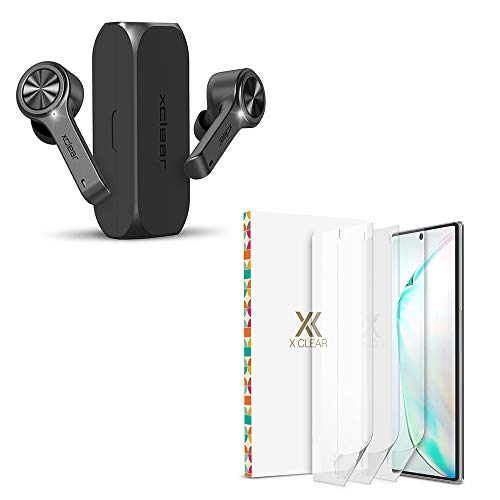XClear 3 Pack Screen Protector for Galaxy Note 10 and Wireless Earbuds