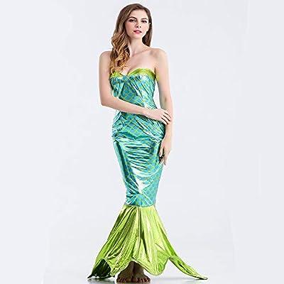 Mujer Disfraces Sirena Cola Falda Lentejuelas Pescado Cola Traje ...