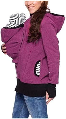 Hcxbb 19 Maternity Kangaroo Hoodies Coat Carrier Jacket 3
