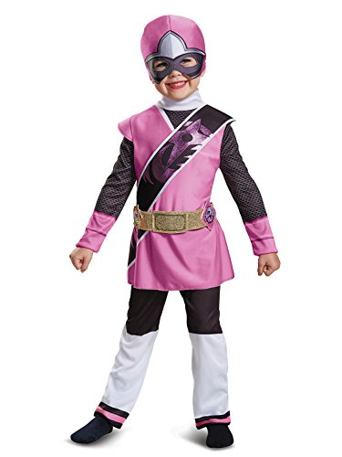 Girls Pink Ninja Costumes (Pink Ranger Ninja Steel Deluxe Child Costume (4-6X))